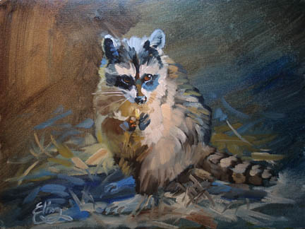 December 30      Raccoon Acrylic Painting