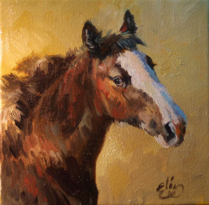 simple horse painting