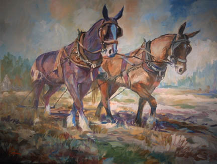 Western Mule And Zebra Paintings By Elin Pendleton Aaea